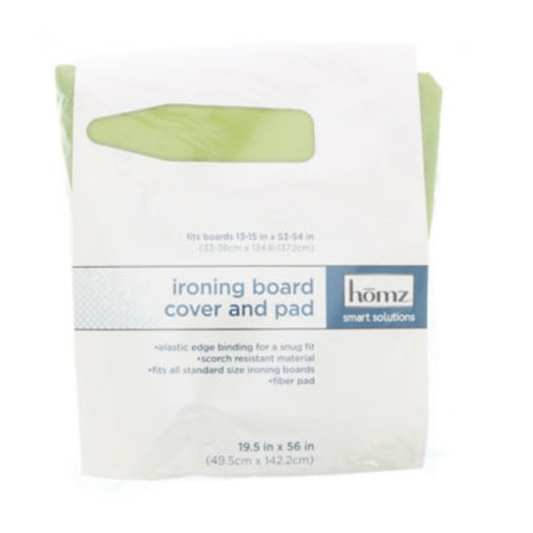 Homz Smart Solutions Non-Woven Ironing Board Cover & Pad