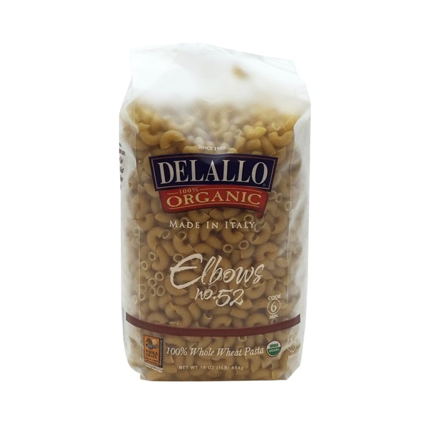 DeLallo 100% Organic Elbows Whole Wheat Pasta