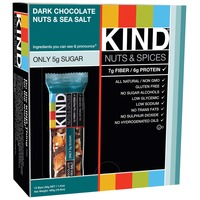 Kind Nuts & Spices Dark Chocolate Nuts & Sea Salt 1.4 OZ Fruit & Nut Bar