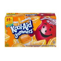 Kool-Aid Jammers Fruit Juice Pouches, Orange, 6 Fl Oz, 10 Count