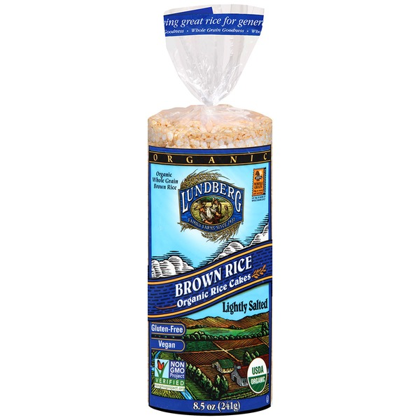 Lundberg Family Farms OG Brn Rice Cake Lightly Salted Organic Rice Cakes
