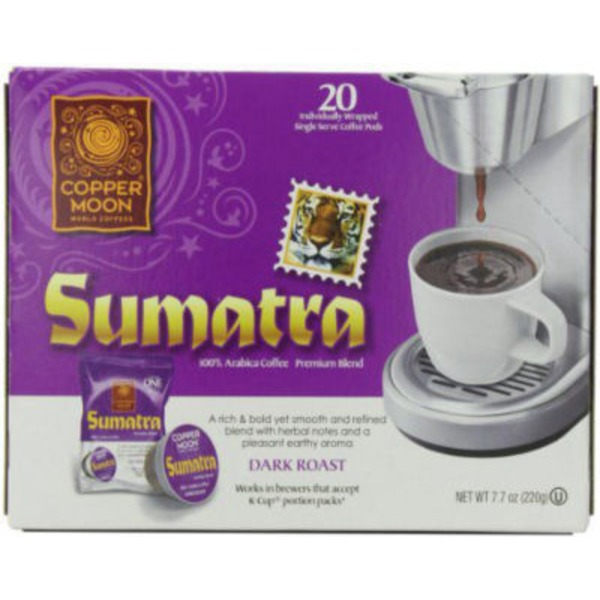 Copper Moon Sumatra Blend Dark Roast Single Serve Coffee