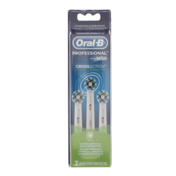 Oral-B CrossAction Oral-B CrossAction Replacement Electric Toothbrush Head Refills 3 Count Power Oral Care