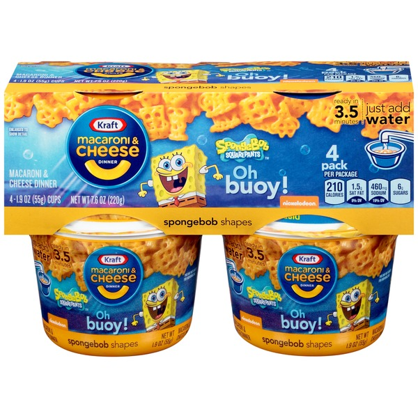 Kraft Dinners SpongeBob Shapes Macaroni & Cheese Dinner