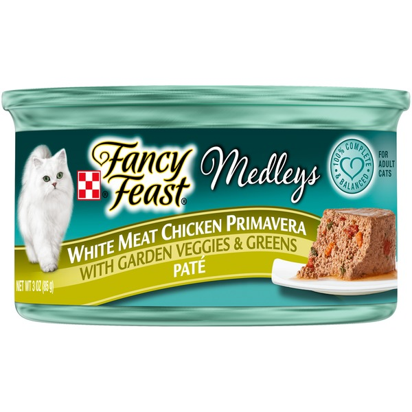 Fancy Feast Medleys White Meat Chicken Primavera Pate Cat Food