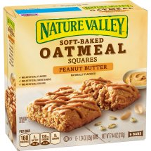 Nature Valley Soft-Baked Oatmeal Squares Peanut Butter, 7.44 oz, 1.24 OZ