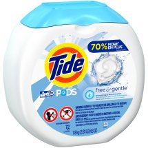 Tide Pods Free & Gentle Laundry Detergent Pacs, 72 Count