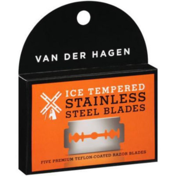 Van Der Hagen Ice Tempered Stainless Steel Blades - 5 CT