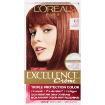 L'Oreal Paris Excellence Creme Hair Color, 6R Light Auburn, 1 Kit