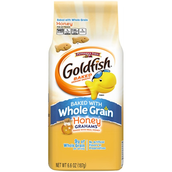 Pepperidge Farm Goldfish Goldfish Honey Grahams Baked Graham Snacks