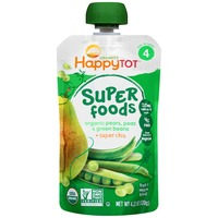 Happy Tot Organic Superfoods Pears, Peas & Green Beans Stage 4 Baby Food