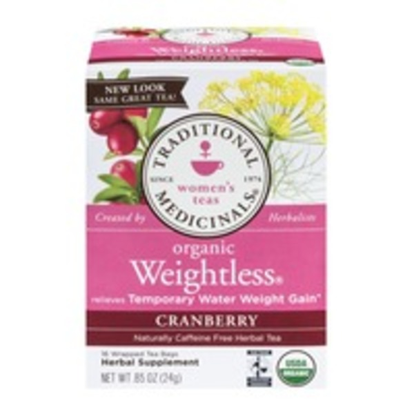 Traditional Medicinals Women's Tea Organic Tea Bags Weightless  - 16 CT