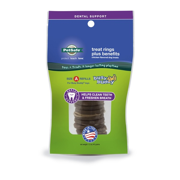 Pet Safe Busy Buddy Dental Support Treat Ring Refills
