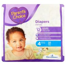 Parent's Choice Diapers, Size 4, 31 Diapers