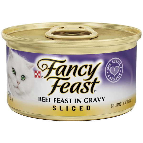 Fancy Feast Wet Sliced Beef Feast in Gravy Cat Food