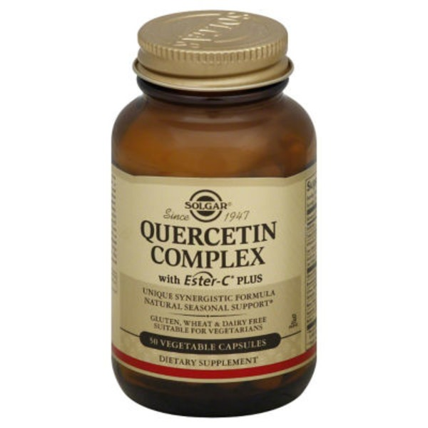 Solgar Quercetin Complex, with Ester-C Plus, Vegetable Capsules