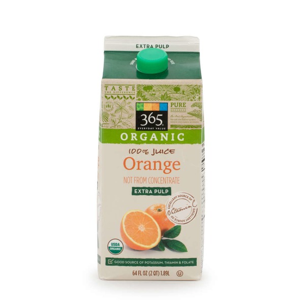 365 Organic Orange Juice Extra Pulp