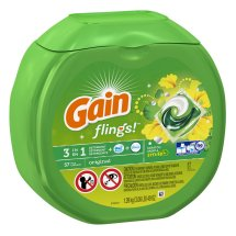 Gain® Flings!™ Original Scent with Oxi Boost™ and Febreze Freshness™ High Efficiency Laundry Detergent Pacs 49 oz. Tub