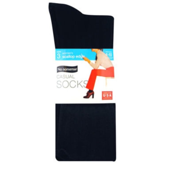 Nononsense Black Scallop Pant Sock