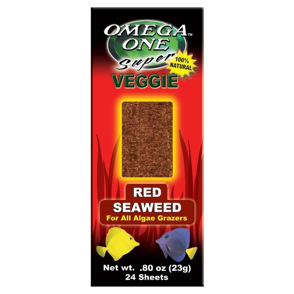 Omega One Super Veggie Red Seaweed Sheets For All Algae Grazers