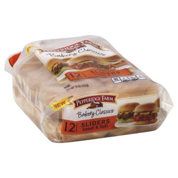 Pepperidge Farm Fresh Bakery Classics Sliders Sweet & Soft Buns