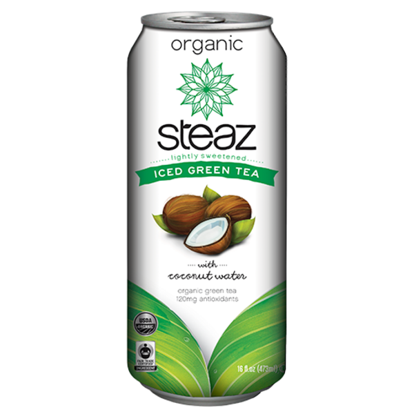 Steaz Organic Iced Green Tea w/ Coconut Water