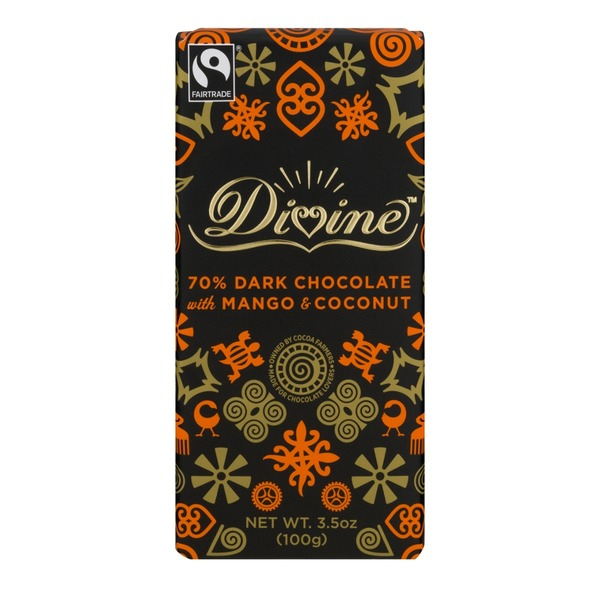Divine Dark Chocolate With Mango & Coconut