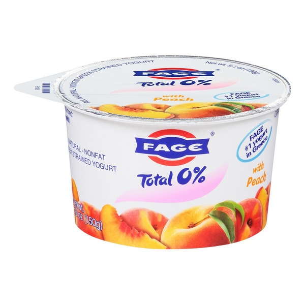 Fage Total 0% with Peach Nonfat Greek Strained Yogurt