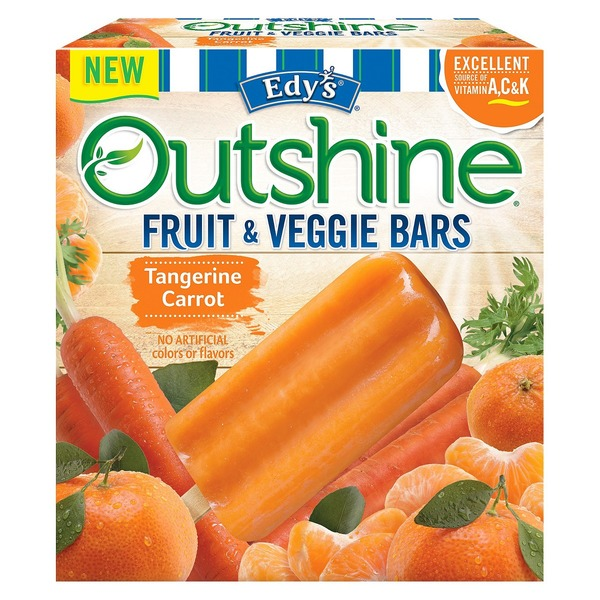 Edy's Outshine Fruit & Veggie Bars, Tangerine Carrot