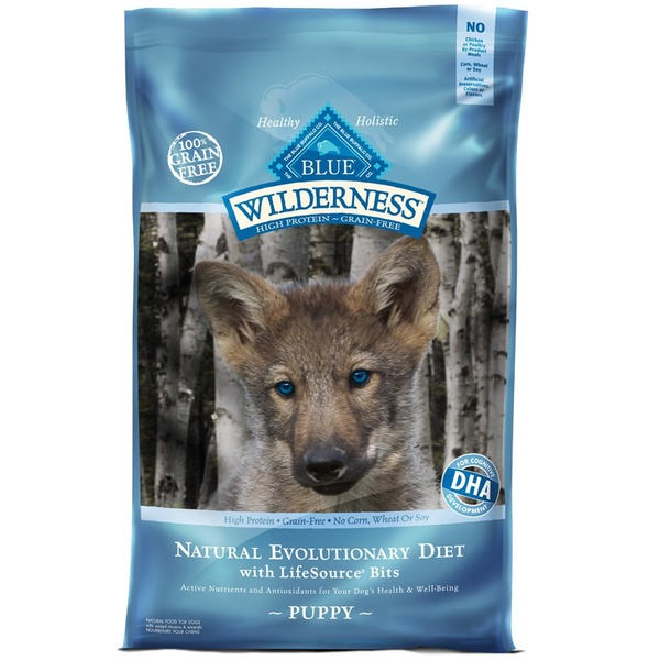 Blue Buffalo High Protein Grain Free No Corn Wheat or Soy Natural Evolutionary Diet With Lifesource Bits Food for Puppies