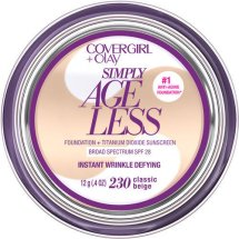 COVERGIRL + OLAY Simply Ageless Instant Wrinkle Defying Foundation, Classic Beige 230, .4 oz
