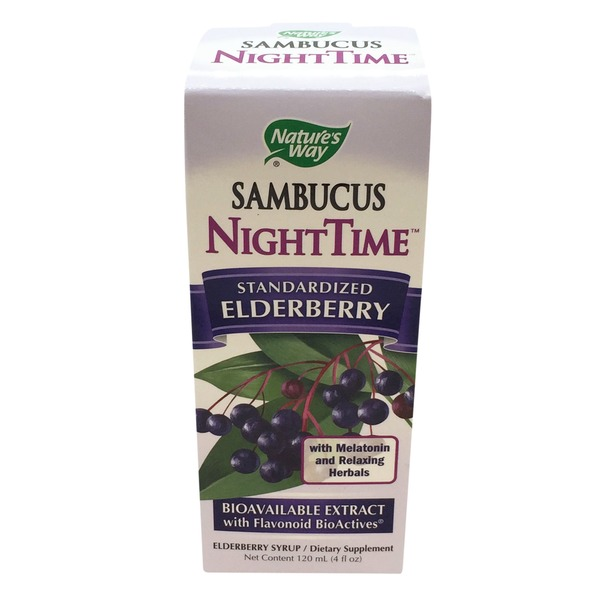 Nature's Way Sambucus, Elderberry, Standardized, Night Time, Box