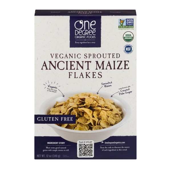 One Degree Organics Veganic Sprouted Ancient Maize Flakes