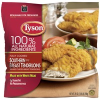 Tyson   Frozen Breaded Bagged Southern Style Chicken Breast Tenderloins