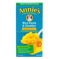 Annie's Homegrown Gluten Free Macaroni and Cheese, Rice Pasta & Cheddar
