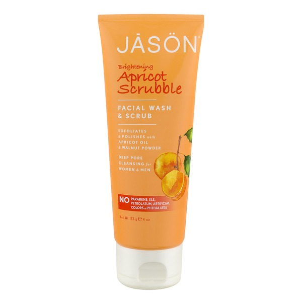 Jason Brightening Apricot Scrubble Facial Wash & Scrub