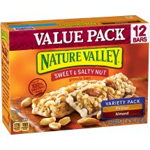 Nature Valley Sweet & Salty Nut Granola Bar Variety Pack of Peanut and Almond 12 - 1.2 oz Bars