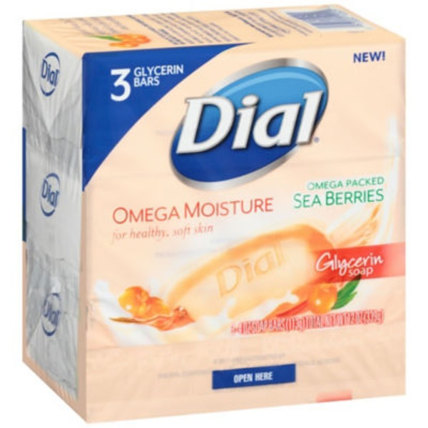 Dial Bar Sea Berries Omega Moisture Glycerin Soap