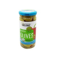 Mediterranean Organics Red Pepper Stuffed Green Olives