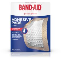 Band-Aid Brand Adhesive Pads, Large, 10 Count