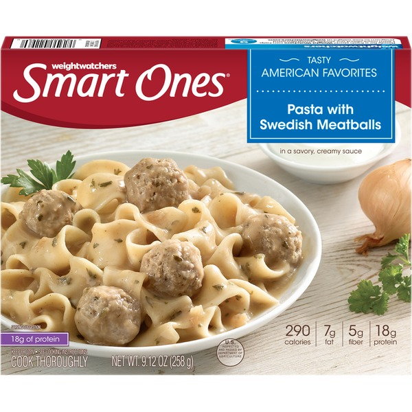 Weight Watchers Tasty American Favorites Pasta with Swedish Meatballs Frozen Entree