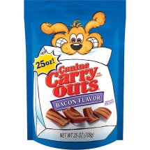 Canine Carry Out Chewy Dog Treats Bacon Bites 25 Oz.
