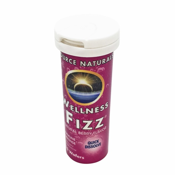Source Naturals Natural Berry Immune Defense Wellness Fizz Wafers
