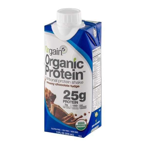 Orgain Organic Protein Nutritional Protein Shake Creamy Chocolate Fudge