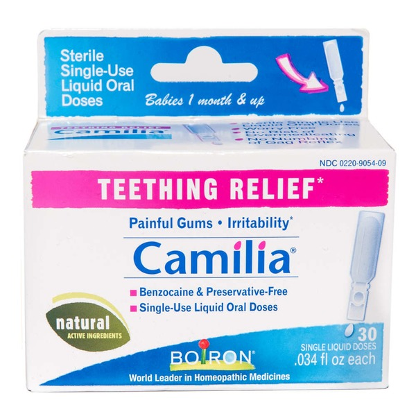 Boiron Camilia Homeopathic Teething Relief Oral Liquid Single-Doses - 30 CT