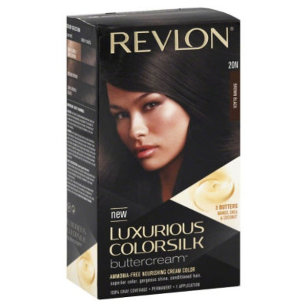 Revlon Luxurious Colorsilk Buttercream Brown Black Haircolor