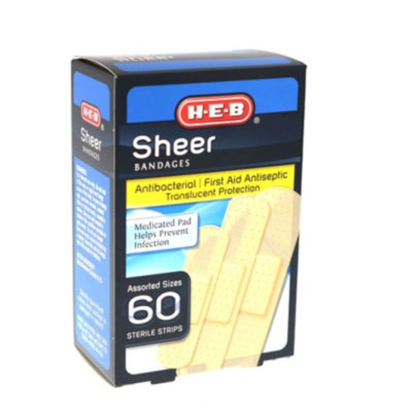 H-E-B Sheer Assorted Sizes Bandages