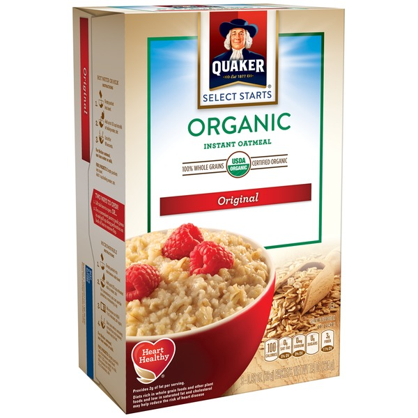 Quaker Oatmeal Select Start Organic Original Instant Oatmeal
