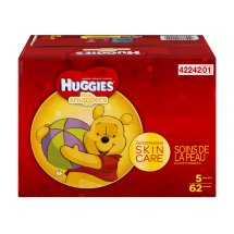 HUGGIES Little Snugglers Diapers, Size 5, 62 Diapers