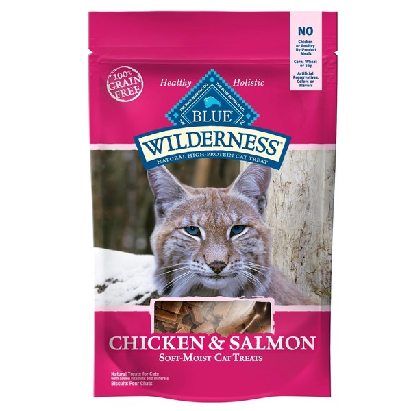 Blue Buffalo Natural Treats for Cats Chicken & Salmon Recipe
